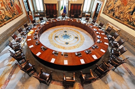 Consiglio dei Ministri - sala